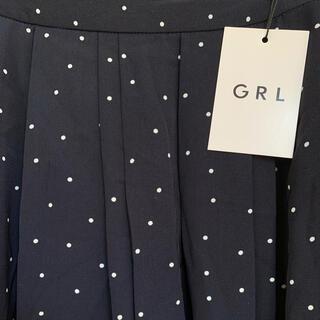 GRL - 《新品未使用》GRL  ドット柄ロングスカート ネイビー