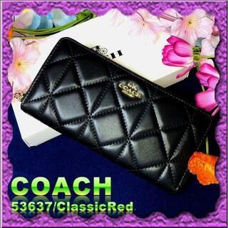 COACH - 【COACH ★コーチ★ 新品未使用品 】YKK 長財布 財布 F53637