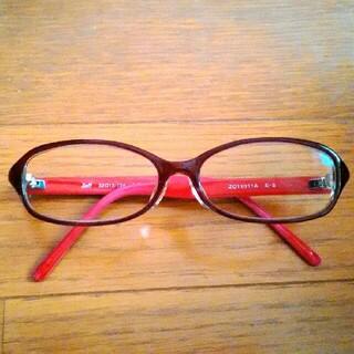ゾフ(Zoff)のZoff  PCメガネ・リーディンググラス +1.5  赤系(サングラス/メガネ)