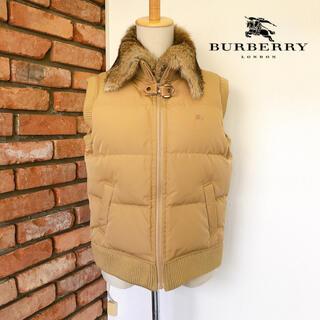 バーバリー(BURBERRY)の美品 バーバリーロンドン ダウンベスト ラビットファー脱着式 160(M相当)(ダウンベスト)