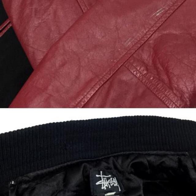 STUSSY(ステューシー)の専用 old Stussy BIG4 スタジャン L ブラック×レッド メンズのジャケット/アウター(スタジャン)の商品写真