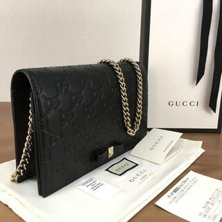 Gucci - 未使用品 GUCCI チェーンウォレット グッチシマ 431408 464
