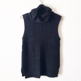 イーハイフンワールドギャラリー(E hyphen world gallery)の袖なしニット タートルセーター セーター ノースリーブ ニット(ニット/セーター)