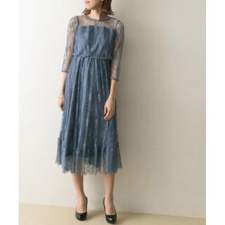 URBAN RESEARCH - 半額 新品未使用 ドレス LA MAISON 総レースロングワンピース ブルー