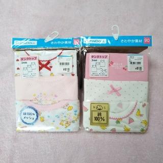 西松屋 - 新品① 90 女の子 タンクトップ 綿100 3枚組×2