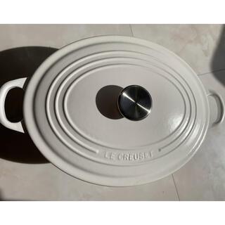ルクルーゼ(LE CREUSET)のル・クルーゼ 鍋 白ココット・オーバル29(鍋/フライパン)