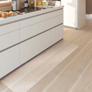 キッチンマット クリア PVC 180x45cm 厚さ1.5mm(その他)