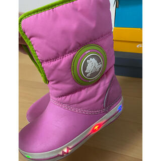 クロックス(crocs)のクロックス 光る ブーツ 18.5cm(ブーツ)