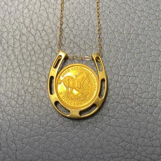 18K コイン 金ネックレス