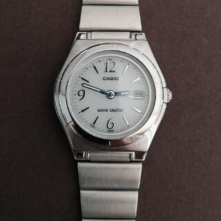 CASIO - 未使用品 カシオ 電波ソーラー ウェーブセプター レディース腕時計