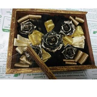 樹脂粘土の黒バラ ボックスフラワー(その他)