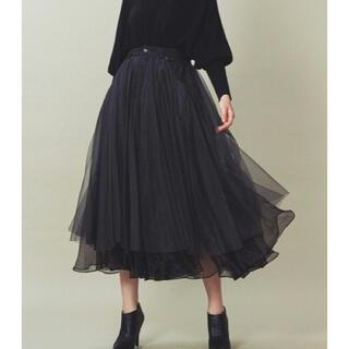 ラベルエチュード(la belle Etude)の【Belle vintage】デニムドッキングボリュームチュールスカート(ロングスカート)