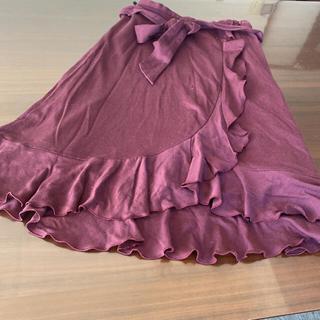 ストロベリーフィールズ(STRAWBERRY-FIELDS)のストロベリーフィールズ フリルスカート(ひざ丈スカート)