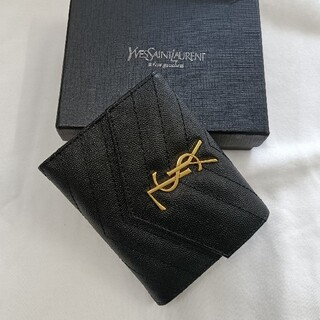 Yves Saint Laurent Beaute - 三つ折り財布❣Saint Laurent さいふ名刺入れ