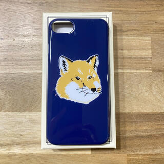 MAISON KITSUNE' - 新品 メゾンキツネ iPhone8ケース スマホケース ネイビー ブランド