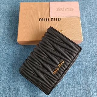 miumiu - 黒~人気財布❣miumiu コインケース 小銭入れ