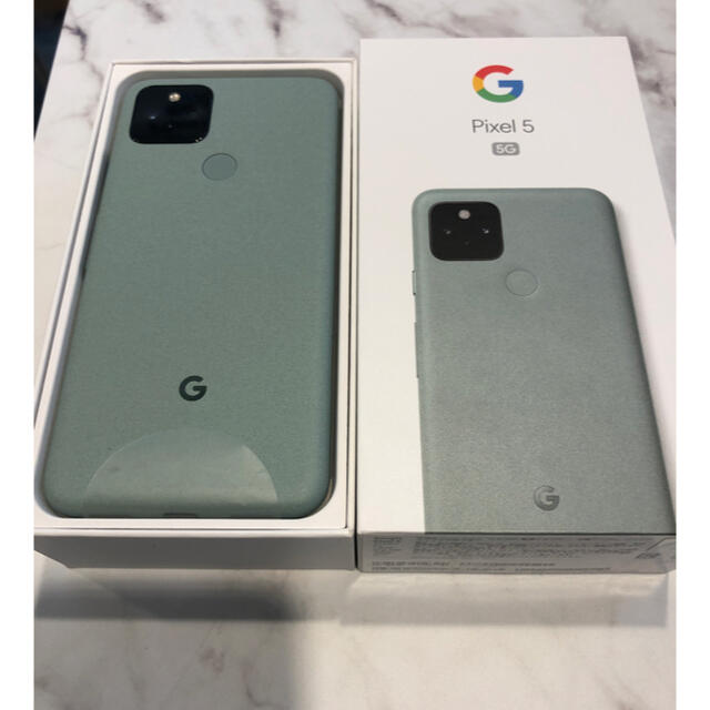 Google Pixel(グーグルピクセル)の【明日終了】Googlepixel 5 グリーン 国内SIMフリー スマホ/家電/カメラのスマートフォン/携帯電話(スマートフォン本体)の商品写真