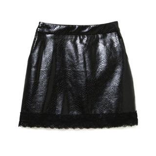 Bubbles - MELT THE LADY パイソンミニスカート ブラック