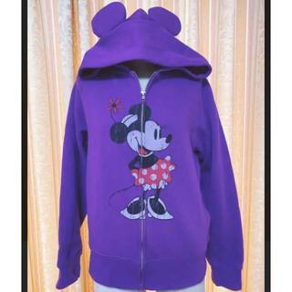Disney - ディズニー 耳付きパーカー 紫