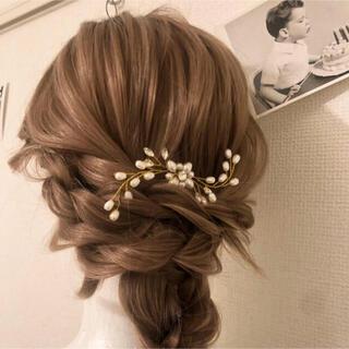 【ヘアアクセサリー】結婚式 成人式 卒業式 髪飾り ハンドメイド