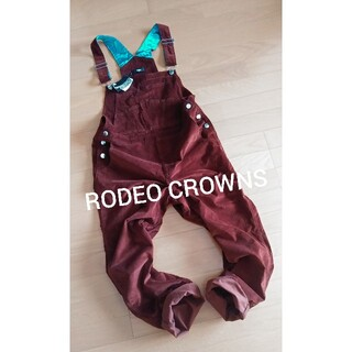 RODEO CROWNS - 新品♪RODEO CROWNS★ゆったりブラウンサロペット