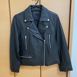 ミラオーウェン(Mila Owen)の新品未使用 MilaOwen ライダースジャケット ブラック 0(S)サイズ(ライダースジャケット)
