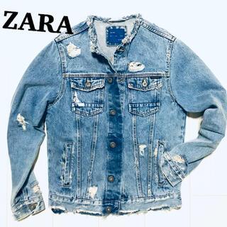 ZARA - ZARA ジージャン デニムダメージジャケット 新品 定価1万ちょい