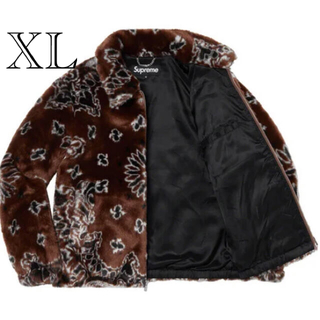 Supreme - Bandana Faux Fur Bomber Jacket XL ブラウン