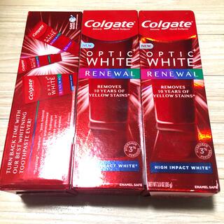 Crest - コルゲート Colgate 歯磨き粉 ハイインパクトホワイト85g 3本