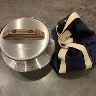 ユニフレーム(UNIFLAME)の美品/UNIFLAME/キャンプ羽釜3号炊き/専用ケース付/fan5(調理器具)
