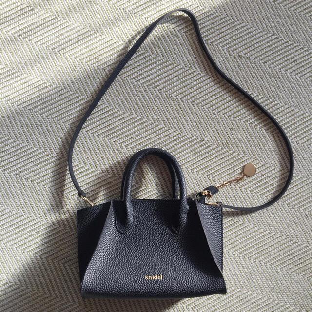 snidel(スナイデル)のスナイデル ハンドバッグ ショルダーバッグ レザー ブラック レディースのバッグ(ハンドバッグ)の商品写真