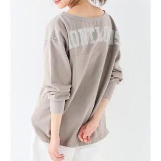 IENA SLOBE - SLOBE IENA  バックカレッジロゴロングTシャツ