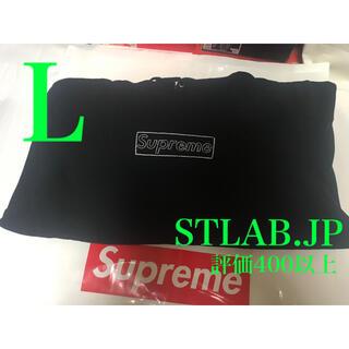 Supreme - 黒 L 21SS Supreme KAWS Chalk Logo パーカー