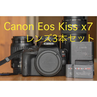 Canon - 【レンズ3本セット】Canon Eos kiss x7【✨美品✨】