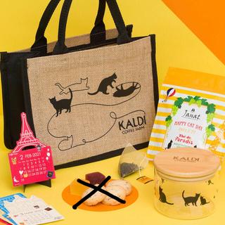 カルディ(KALDI)のカルディ猫の日バッグ&ニャンコーヒー&エコバッグ(トートバッグ)