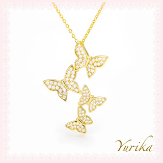 AHKAH - Butterfly necklace *color Gold