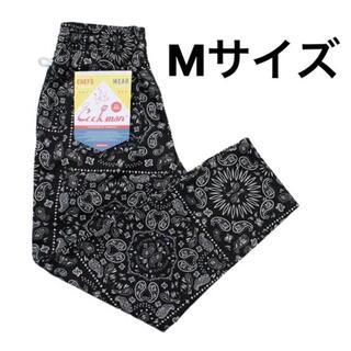 クックマン シェフパンツ ペイズリー 黒M(ワークパンツ/カーゴパンツ)