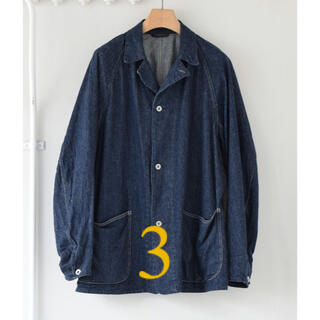 COMOLI - comoli デニムワークジャケット カバーオール navy サイズ3 新品
