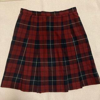 ザスコッチハウス(THE SCOTCH HOUSE)のScotchhouse チェックプリーツスカート 150 M赤×黒×黄 高校通学(ミニスカート)