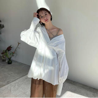STUDIOUS - CLANE クラネ OFF SHOULDER TUCK BLOUSE