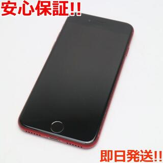 アイフォーン(iPhone)の美品 SIMフリー iPhone8 64GB レッド (スマートフォン本体)
