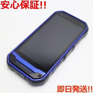 キョウセラ(京セラ)の良品中古 SIMロック解除済 au TORQUE G03 ブルー 白ロム(スマートフォン本体)