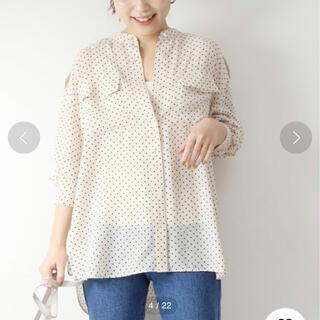 Spick and Span - spickandspan ドットフロッキーワークシャツ