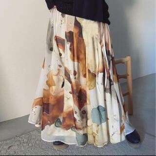 Ameri VINTAGE - AMERI VINTAGE インクアートスカート