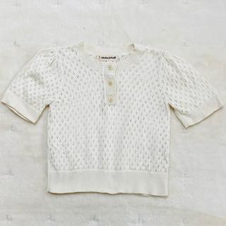 misha&puff eyelet blouse 4-5Y