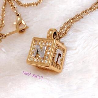 NINA RICCI - 【NINA RICCI】キューブ ゴールド ネックレス 美品 ヴィンテージ