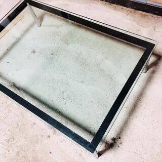 カッシーナ(Cassina)の美品 カッシーナ lc10-p ガラステーブル 定価40万相当(ローテーブル)