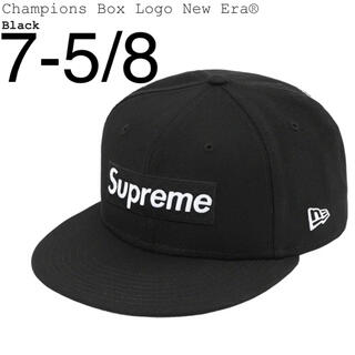シュプリーム(Supreme)の7-5/8 Supreme Champions Box Logo New Era(キャップ)