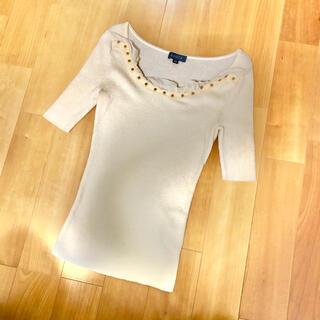エポカ(EPOCA)のお値下げ エポカ  リブニット  薄手 半袖 40(ニット/セーター)