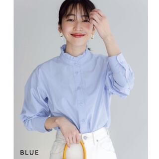 BASEMENT online ♡ フリル襟シャツ